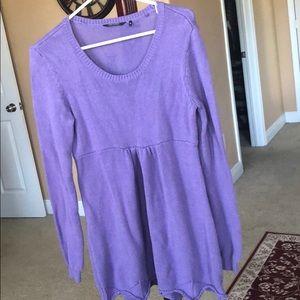 Beautiful warm long sleeve short dress
